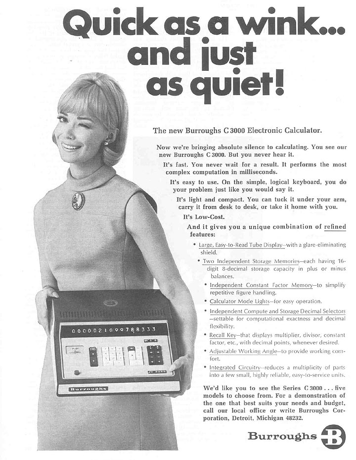 3000 Series Calculator Ad Magazine Advertisement Dated December