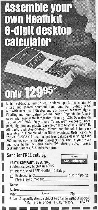 Old Calculator Web Museum Advertising & Collateral Materials Page