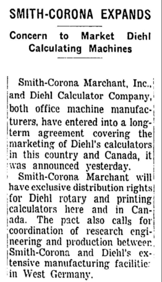 Old Calculator Web Museum News Archive Smith Corona Marchant